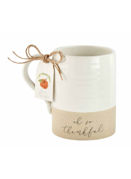 Mud Pie Mug Stoneware, Thankful