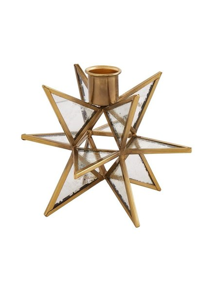 Mud Pie Taper Holder Gold Star