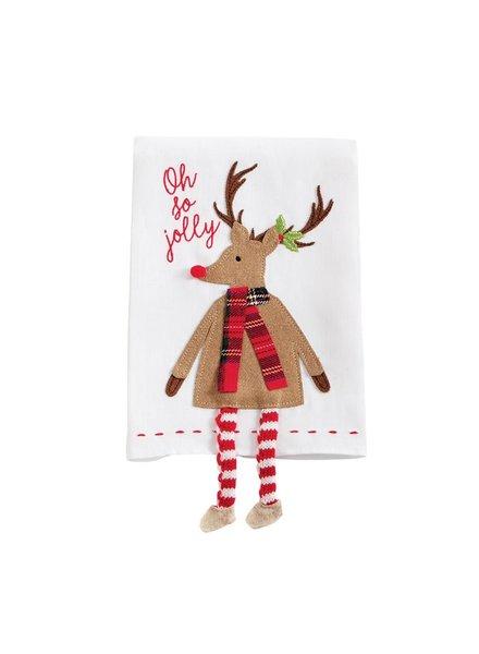 Mud Pie Towel Dangle Leg, Reindeer