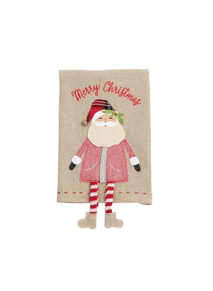 Mud Pie Towel Dangle Leg, Santa