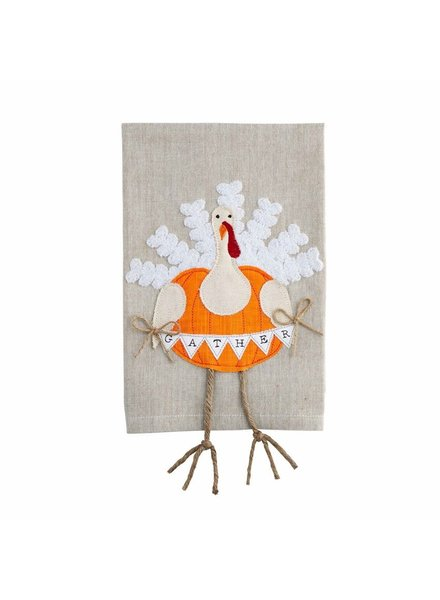 Mud Pie Towel Dangle Leg, Turkey Gather