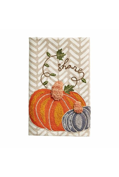 Towel Embroidered Pumpkin Share