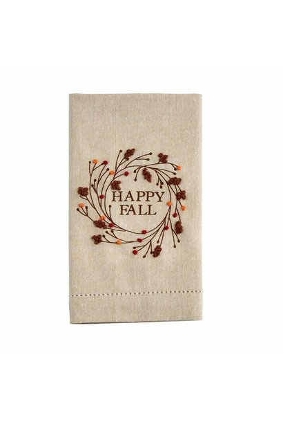 Towel French Knot, Happy Fall
