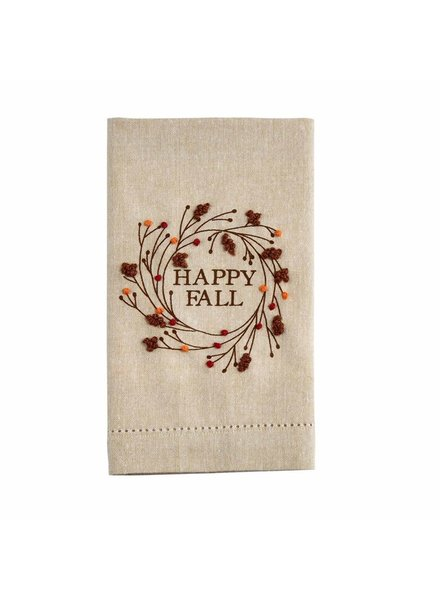 Mud Pie Towel French Knot, Happy Fall