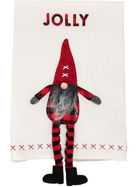 Mud Pie Towel Gnome Dangle Leg, Jolly