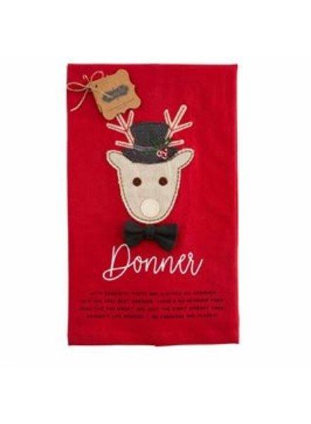 Mud Pie Towel Reindeer, Donner