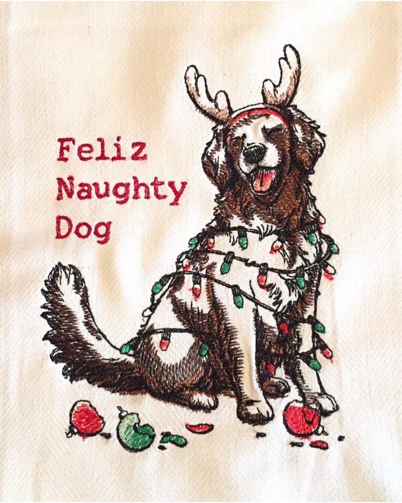 Tag Dish Towel Feliz Naughty Dog