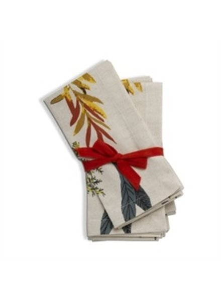 Tag Napkins Falling Leaves S/4
