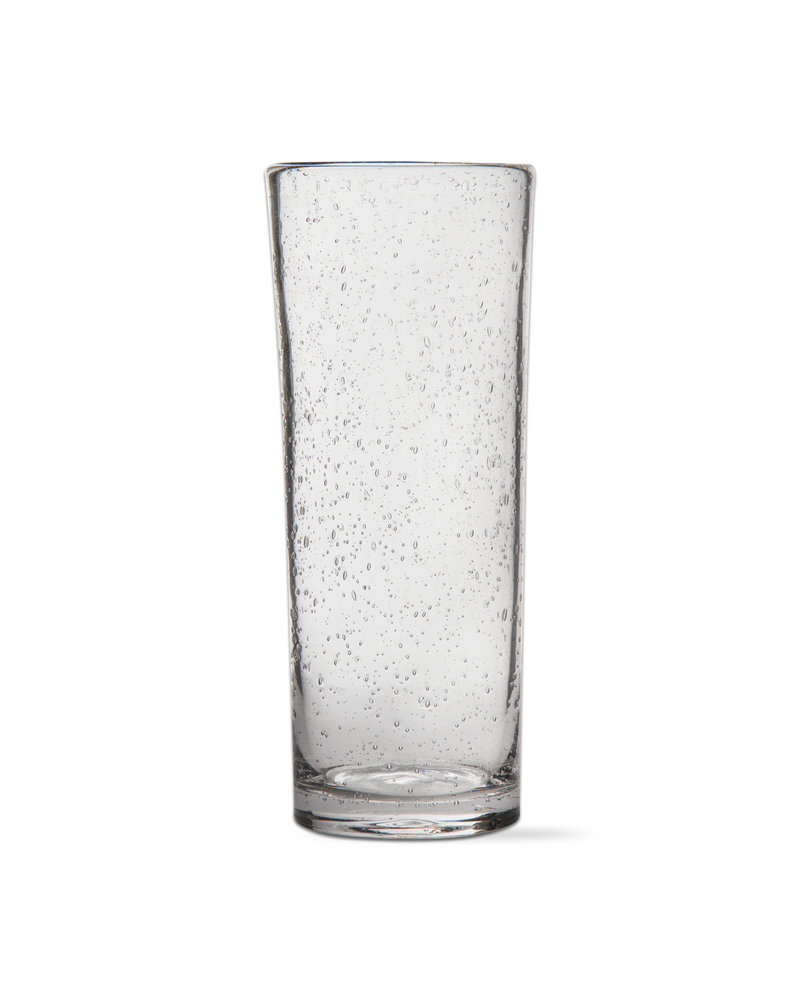 Bubble Glass Clear Tall Glass