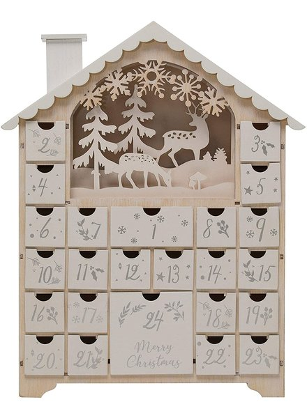 creative co-op Advent, Wood House