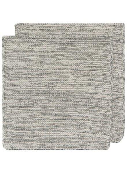 Now Designs Dishcloth Heirloom Knit S/2 Jade