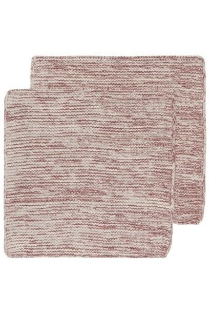 Heirloom Knit Dishcloth S/2 Wine