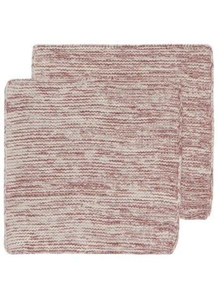 Heirloom Heirloom Knit Dishcloth S/2 Wine
