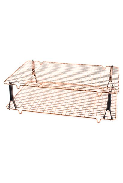 """Cooling Rack Copper 16"""".7"""" x 11.5"""" Stackable Set of 2"""