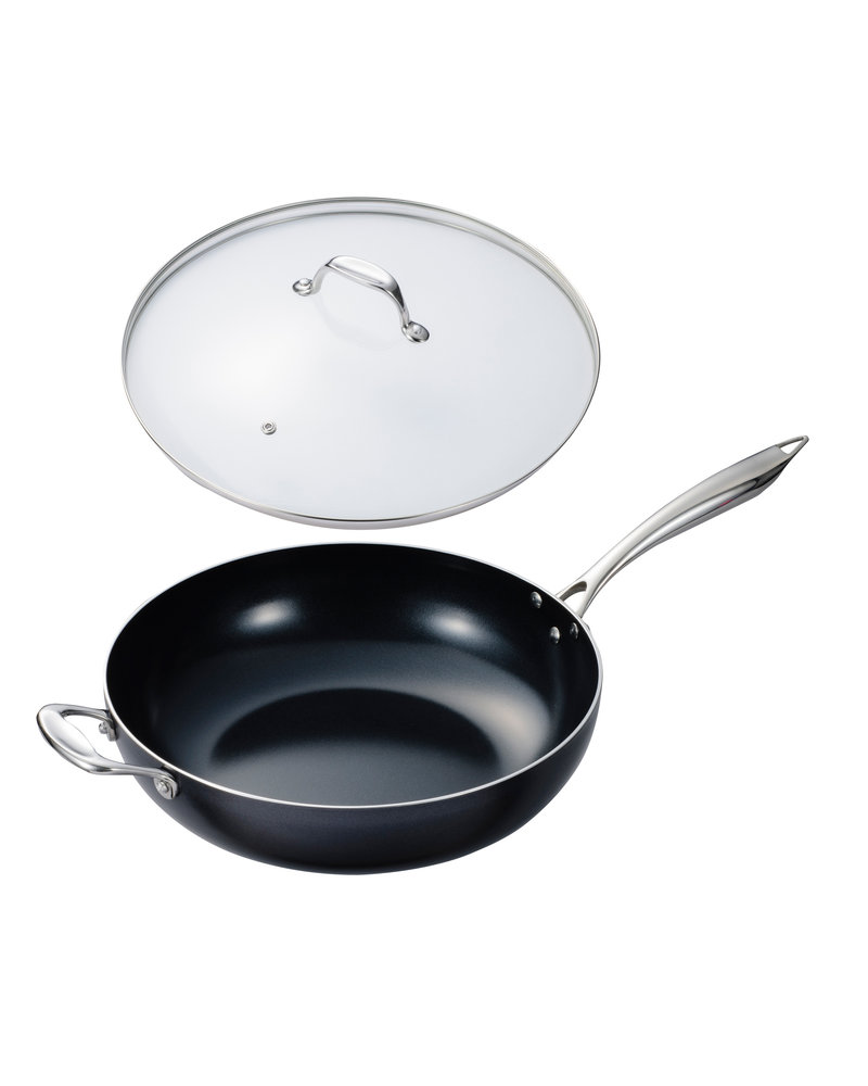 Kyocera 12.5 -Inch Nonstick WOK w/ Tempered-glass Lid  - NEW!