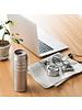 Kyocera 17 oz Ceramic Travel Mug Flip-Top, Silver