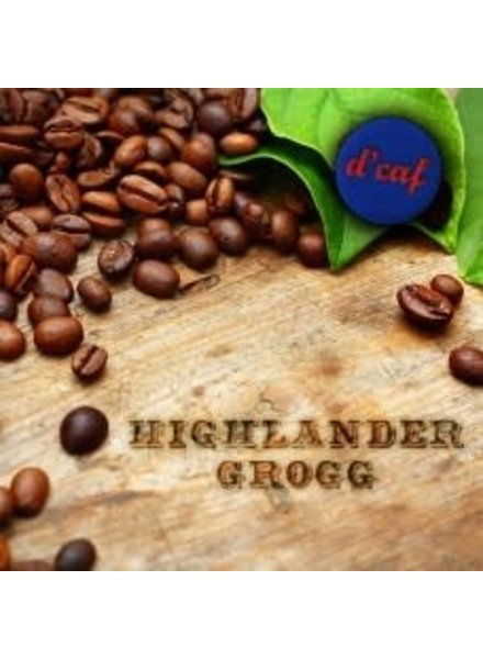 Dark Canyon Coffee Highlander Grogg Decaf .25 LBS