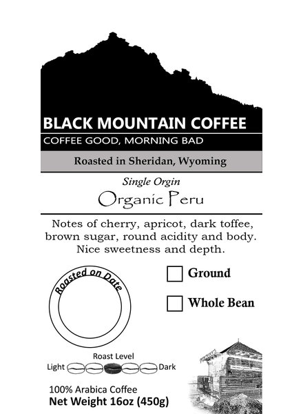 Black Mtn Coffee Peru Organic Decaf