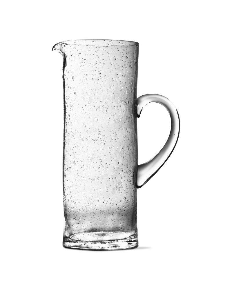 Tag Bubble Glass Clear Pitcher Tall