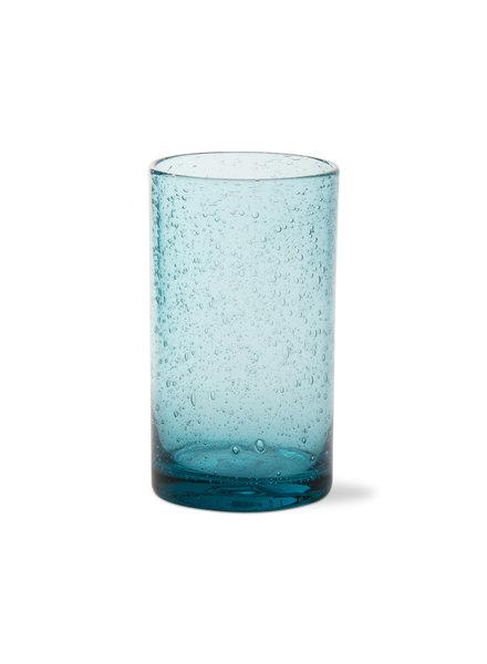 Tag Bubble Glass Aqua Tumbler