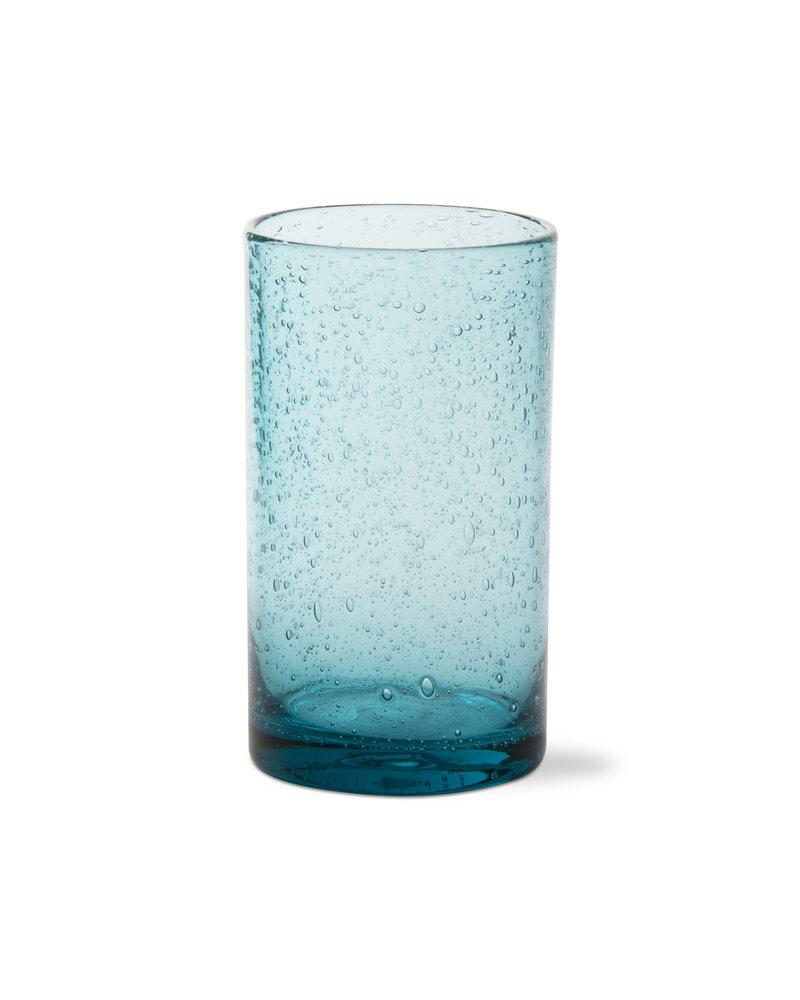 Bubble Glass Aqua Tumbler
