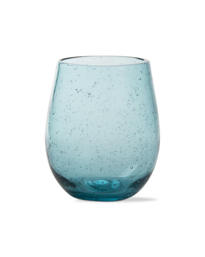 Bubble Glass Aqua Stemless