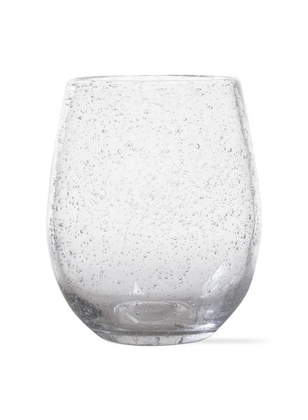 Bubble Glass Clear Wine Stemless