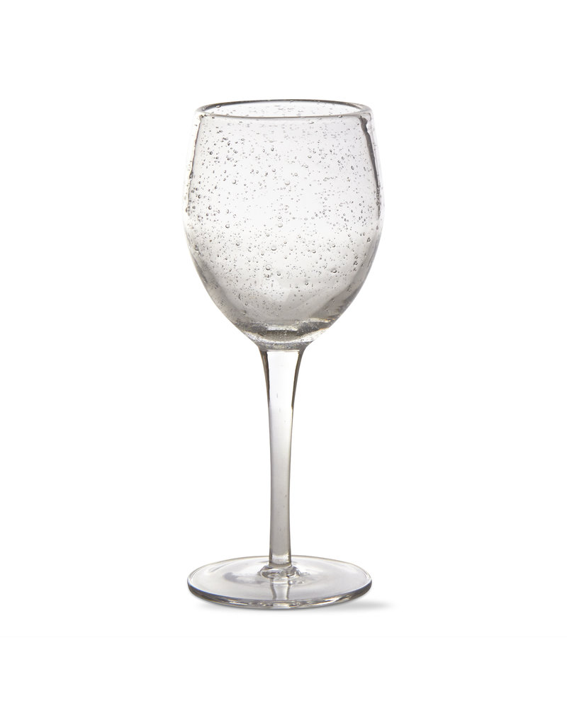 Tag Bubble Glass Clear Wine Tall