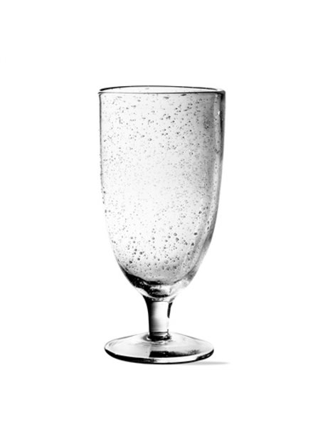 Bubble Glass Clear Tall Goblet