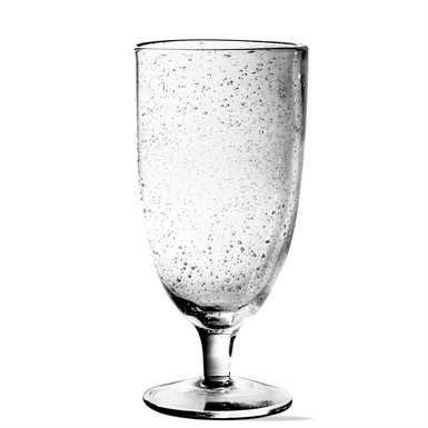 Bubble Glass Clear Tall Goblet-1