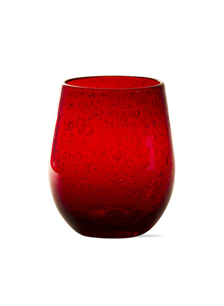 Bubble Glass Red Wine Stemless