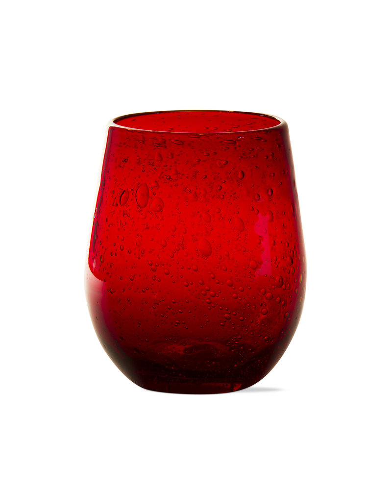 Tag Bubble Glass Red Wine Stemless