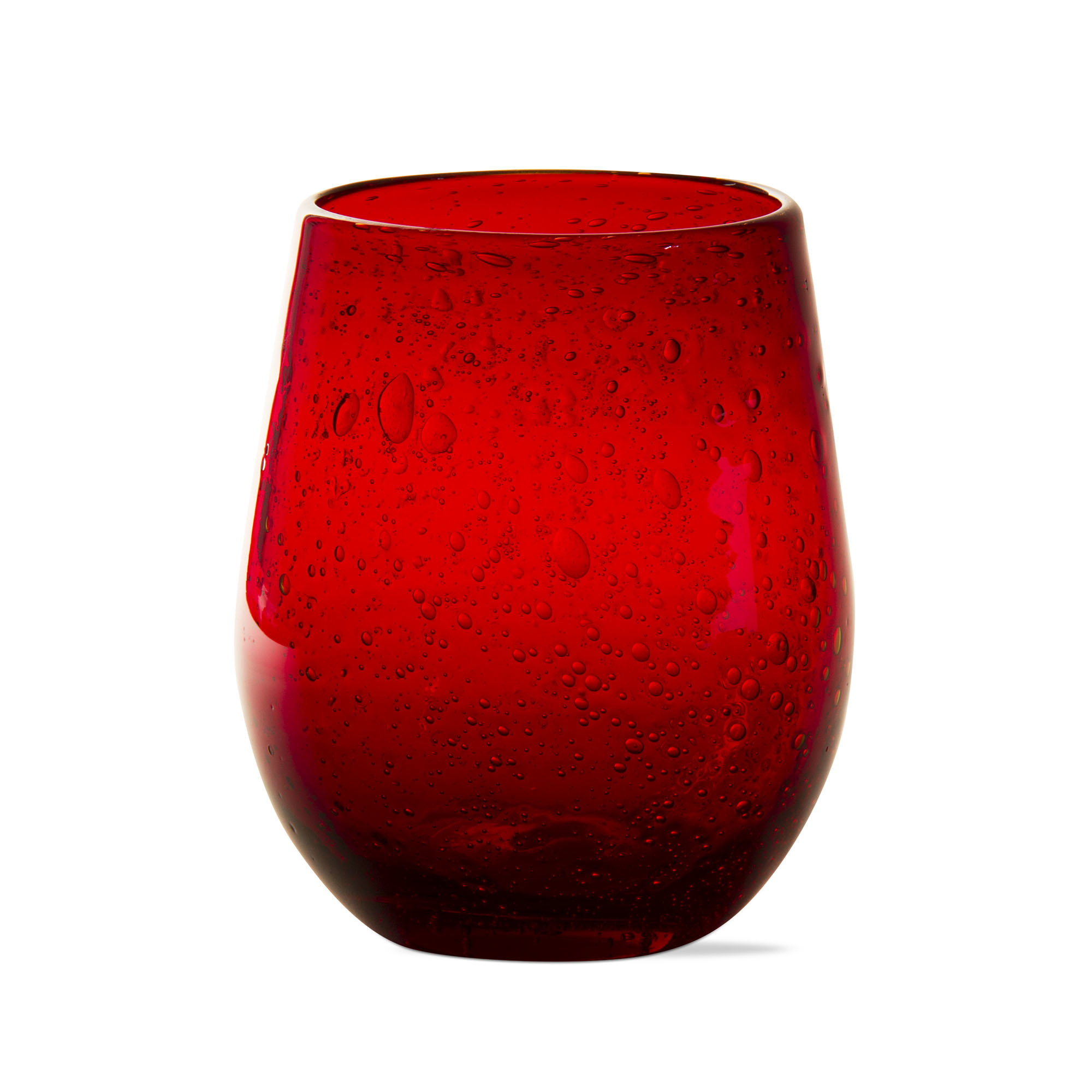 Bubble Glass Red Wine Stemless-1