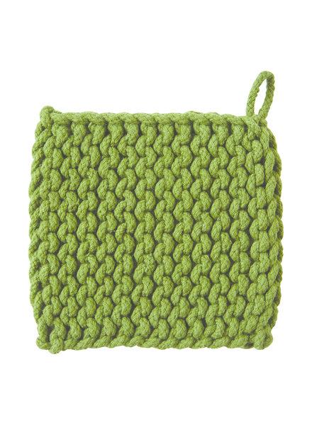 Tag Trivet Crochet Olive