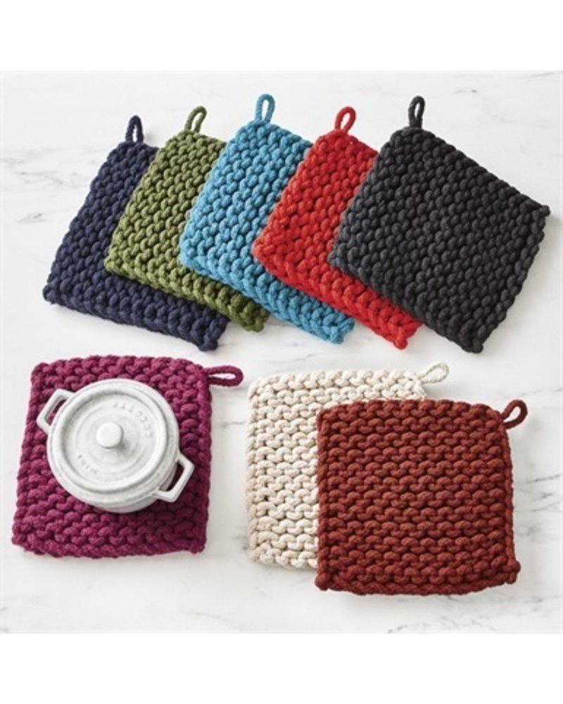 Tag Crochet Trivet Plum