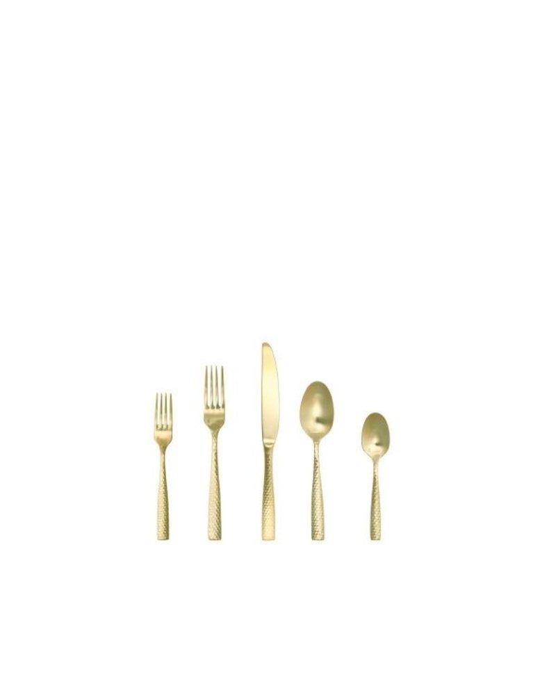 Fork Salad Lucca Faceted Gold