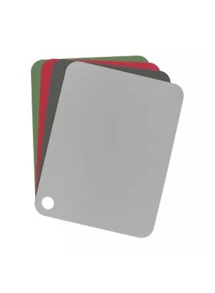 Tovolo Flexible Cutting Mat (Set of 4) - Charcoal, Oyster Gray, Pesto, Cayenne