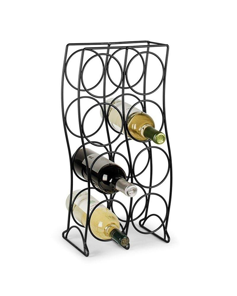 Spectrum Curve 8-Bottle Wine Rack - Black