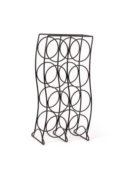 Spectrum Curve 8-Bottle Wine Rack - Black