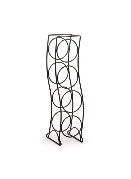 Spectrum Curve 4-Bottle Wine Rack - Black