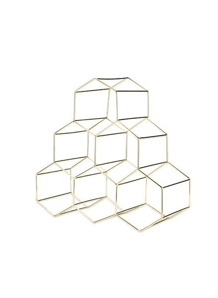 Wine Rack Gold Geo