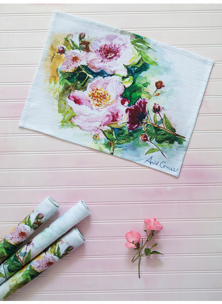 Placemat Painted Peony Multi