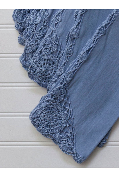 Napkin Crochet Periwinkle