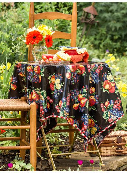 TC 52x72 Oil Cloth Fruit Black