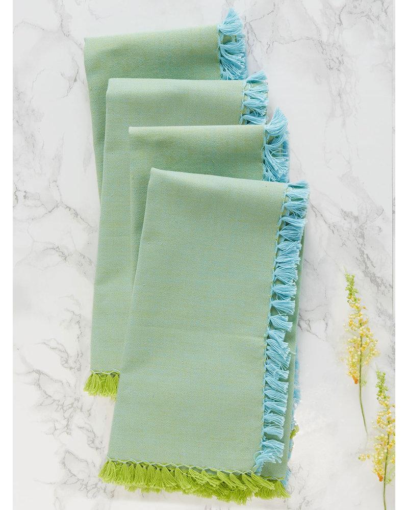 Napkin Cham Aqua Green