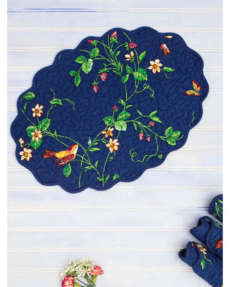 Placemat Quilt Strawberry Blue