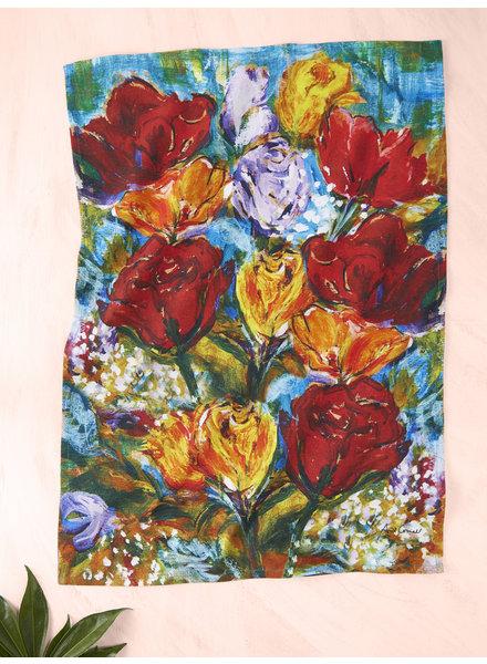 April Cornell Tea Towel Always Roses