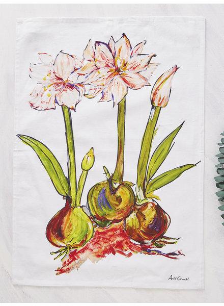 April Cornell Tea Towel Amaryllis