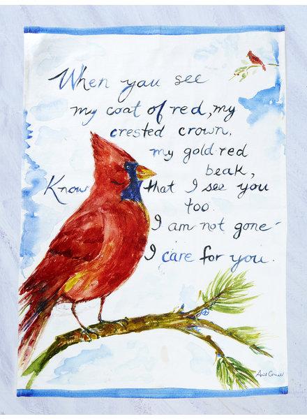 April Cornell Tea Towel Cardinal