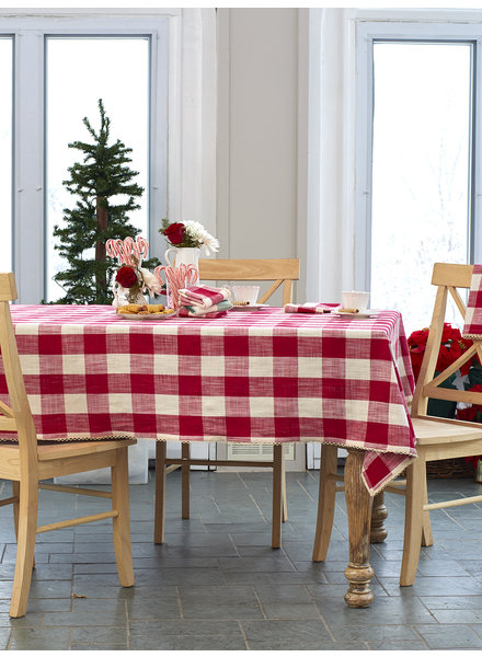 April Cornell Table Cloth Cottage Check Red